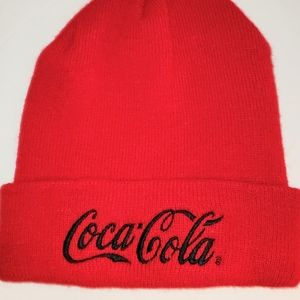 Coca-Cola Bright Red Beanie NWOT